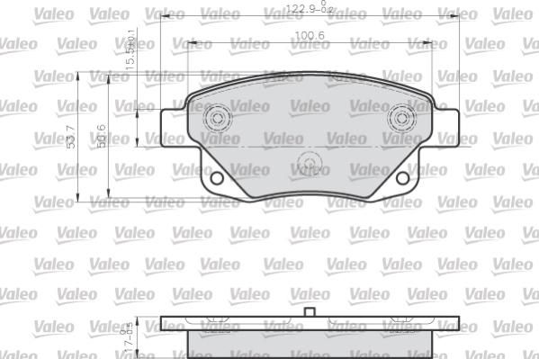 Kit de plaquettes de frein, frein à disque VALEO 872486 (Jeu de 4)