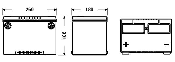 Batterie TUDOR TB758 (X1)