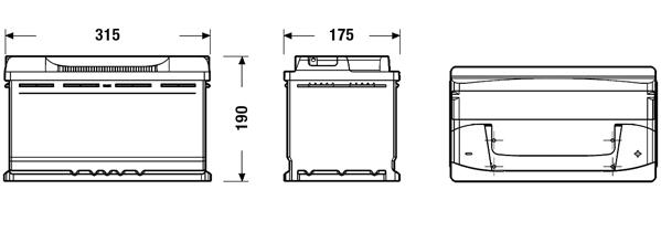 Batterie TUDOR TB800 (X1)