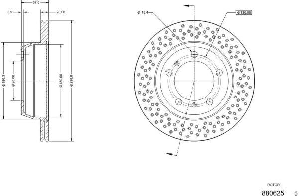 Disque de frein arriere DELCO REMY RAD1804C (X1)