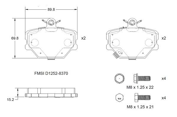 Plaquettes de frein avant DELCO REMY RAP2107 (X1)