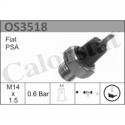Capteur, pression d'huile CALORSTAT BY VERNET OS3518 (X1)
