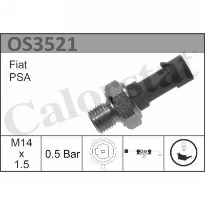 Capteur, pression d'huile CALORSTAT by Vernet OS3521 (X1)