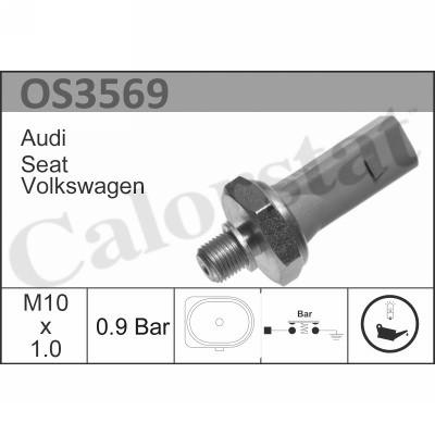 Capteur, pression d'huile CALORSTAT BY VERNET OS3569 (X1)