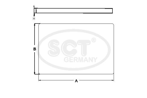 Filtre d'habitacle SCT Germany SA 1130 (X1)