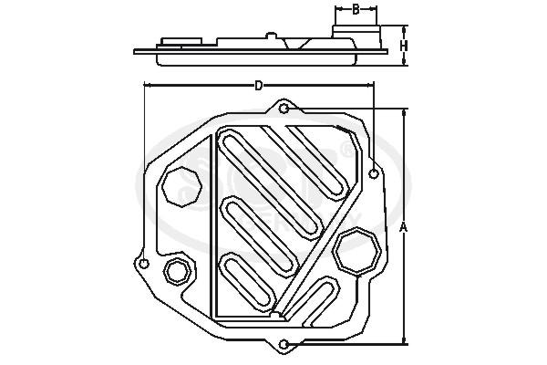 Filtre a huile de boite de vitesse SCT Germany SG 1087 (X1)