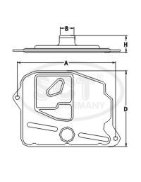 Filtre a huile de boite de vitesse SCT Germany SG 1710 (X1)