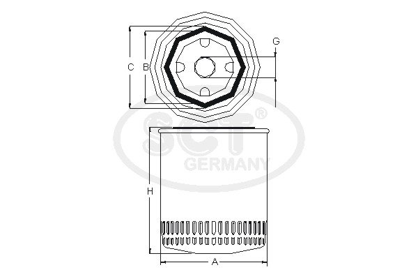 Filtre a  huile SCT Germany SM 116 (X1)