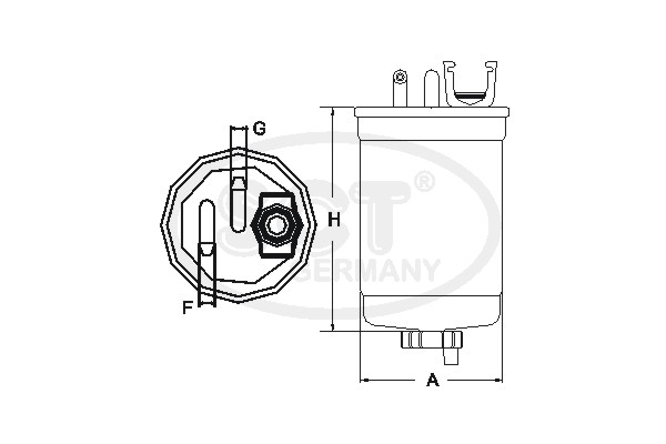 Filtre a carburant SCT Germany ST 6120 (X1)