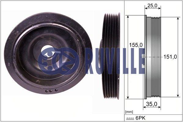 Poulie damper/vilebrequin RUVILLE 515511 (X1)
