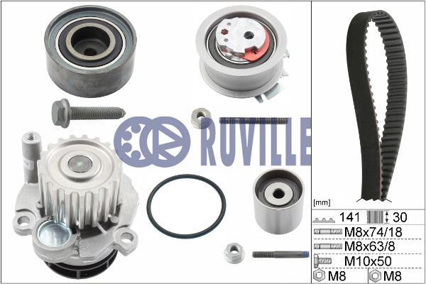 Kit distribution + pompe a eau RUVILLE 55766701 (X1)