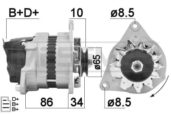 Alternateur ERA 210343 (X1)
