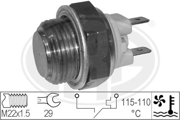 Interrupteur de temperature, ventilateur de radiateur ERA 330184 (X1)