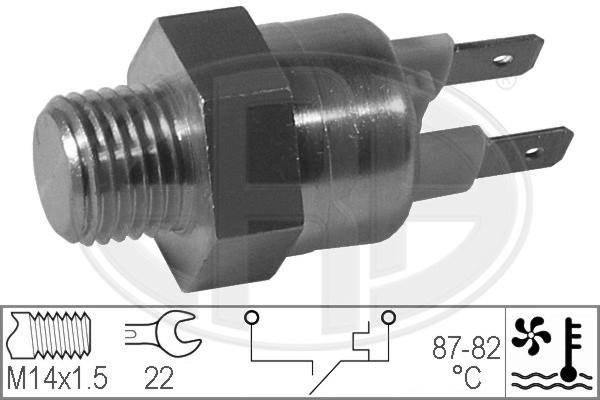 Interrupteur de temperature, ventilateur de radiateur ERA 330189 (X1)