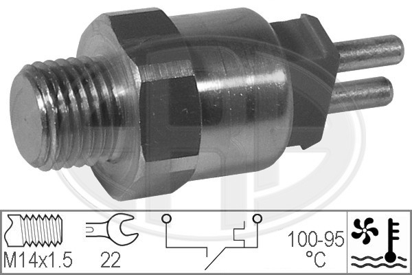 Interrupteur de temperature, ventilateur de radiateur ERA 330190 (X1)