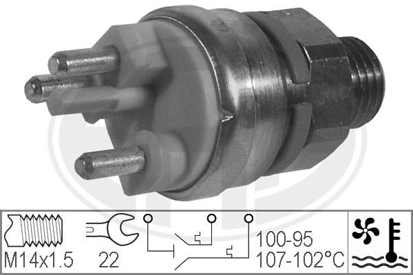 Interrupteur de temperature, ventilateur de radiateur ERA 330216 (X1)