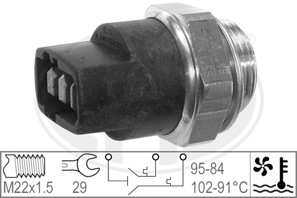 Interrupteur de temperature, ventilateur de radiateur ERA 330268 (X1)