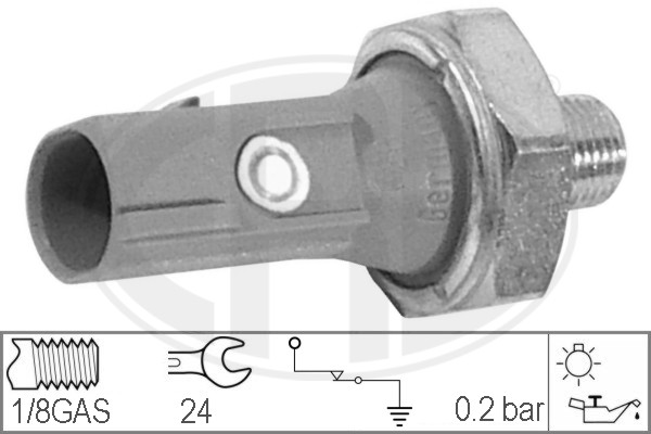 Capteur, pression d'huile ERA 330539 (X1)