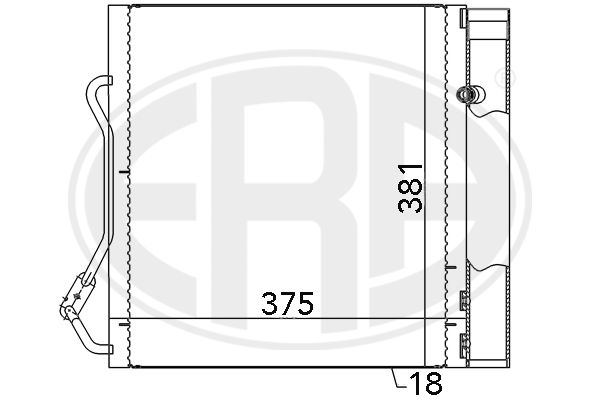 Condenseur / Radiateur de climatisation ERA 667042 (X1)