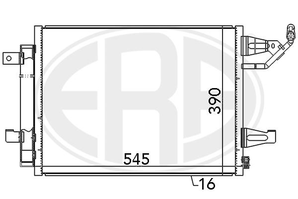 Condenseur / Radiateur de climatisation ERA 667085 (X1)