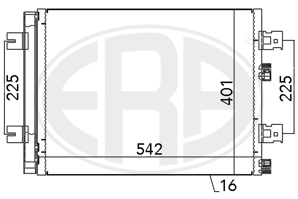 Condenseur / Radiateur de climatisation ERA 667130 (X1)