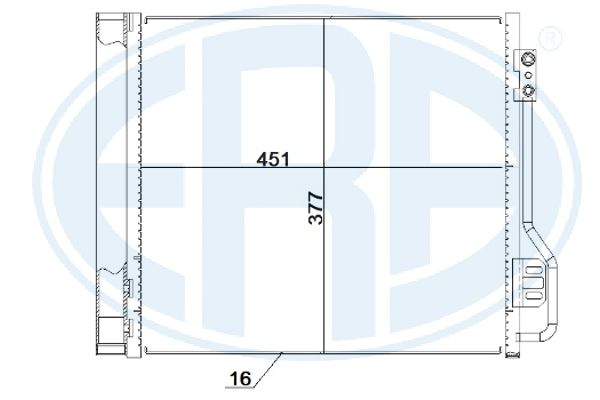 Condenseur / Radiateur de climatisation ERA 667251 (X1)