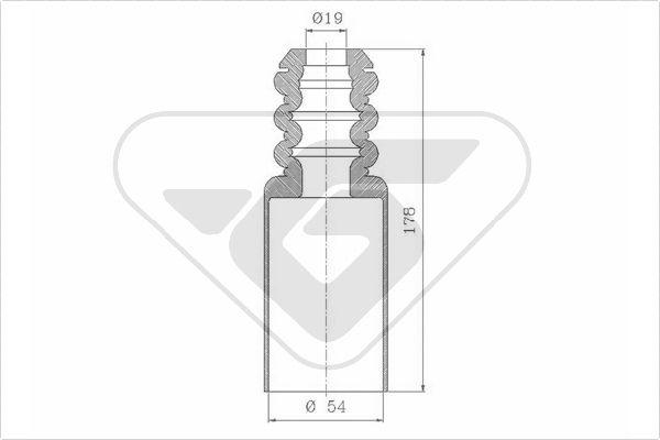 Soufflet protection amortisseur HUTCHINSON KP086 (X1)