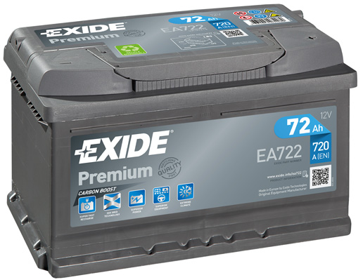 Batterie EXIDE EA722 (X1)