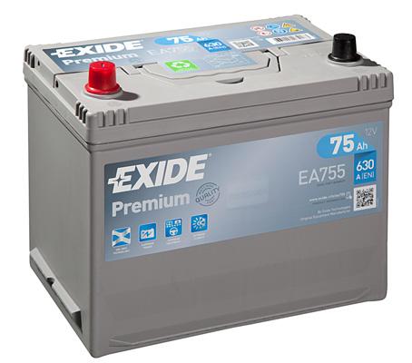 Batterie EXIDE EA755 (X1)