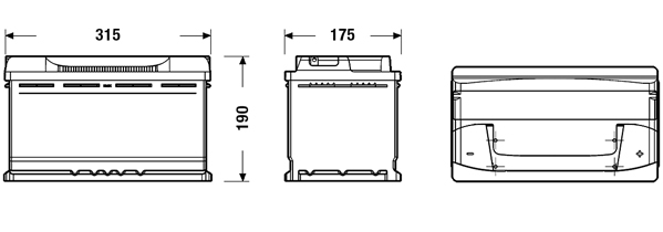 Batterie EXIDE EB800 (X1)