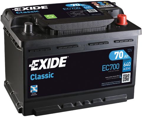 Batterie EXIDE EC700 (X1)