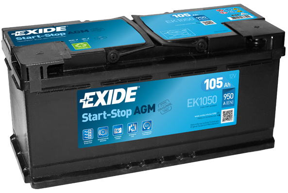 Batterie EXIDE EK1050 (X1)