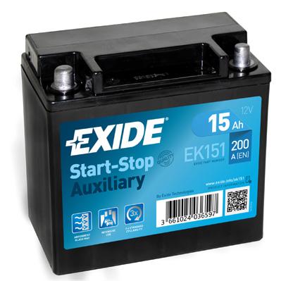 Batterie EXIDE EK151 (X1)