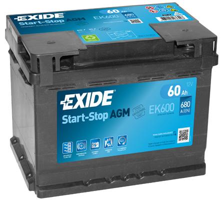 Batterie EXIDE EK600 (X1)