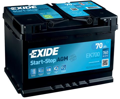 Batterie EXIDE EK700 (X1)