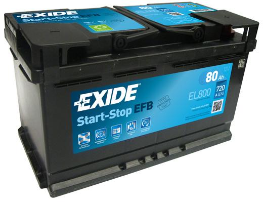Batterie EXIDE EL800 (X1)