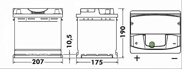 Batterie EXIDE EA531 (X1)
