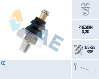 Capteur, pression d'huile FAE 10610 (X1)