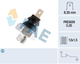 Capteur, pression d'huile FAE 11200 (X1)
