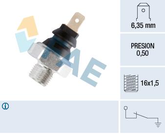 Capteur, pression d'huile FAE 11270 (X1)