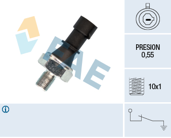 Capteur, pression d'huile FAE 12436 (X1)