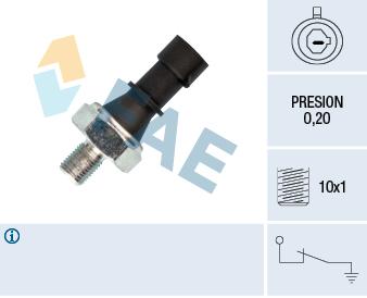 Capteur, pression d'huile FAE 12438 (X1)