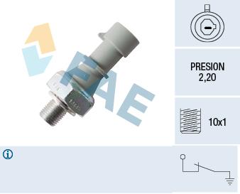 Capteur, pression d'huile FAE 12445 (X1)