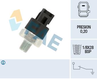 Capteur, pression d'huile FAE 12550 (X1)