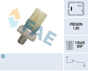 Capteur, pression d'huile FAE 12620 (X1)