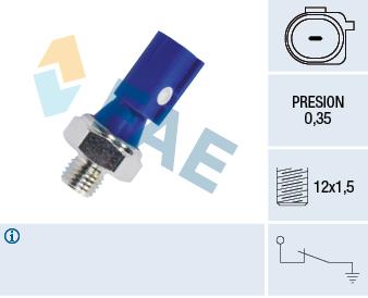 Capteur, pression d'huile FAE 12841 (X1)