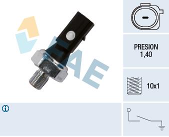 Capteur, pression d'huile FAE 12885 (X1)