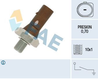 Capteur, pression d'huile FAE 12890 (X1)