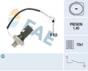 Capteur, pression d'huile FAE 12895 (X1)