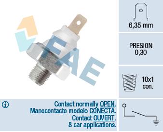 Capteur, pression d'huile FAE 12960 (X1)